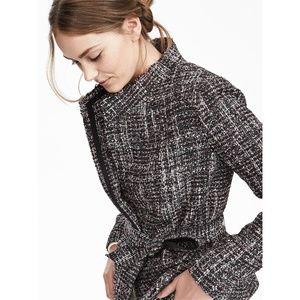 Banana Republic Women Raw Cut Wrap Tweed Jacket